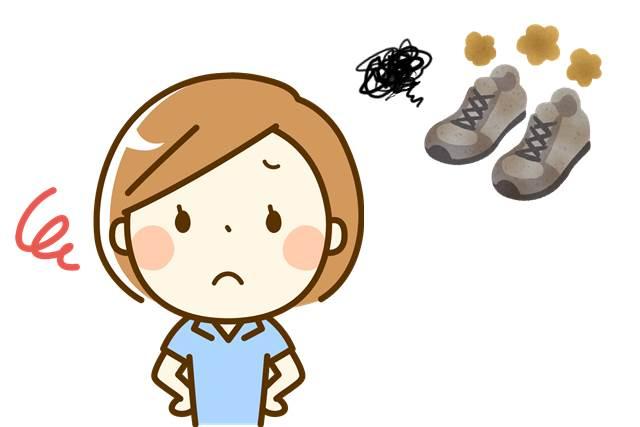 靴がドロドロ