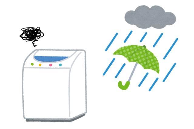 雨の日に洗濯物が乾かない