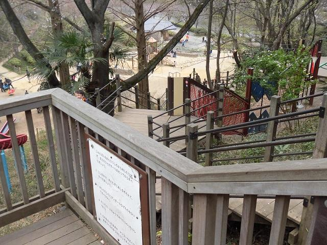 三ツ池公園 アスレチック 上から見る
