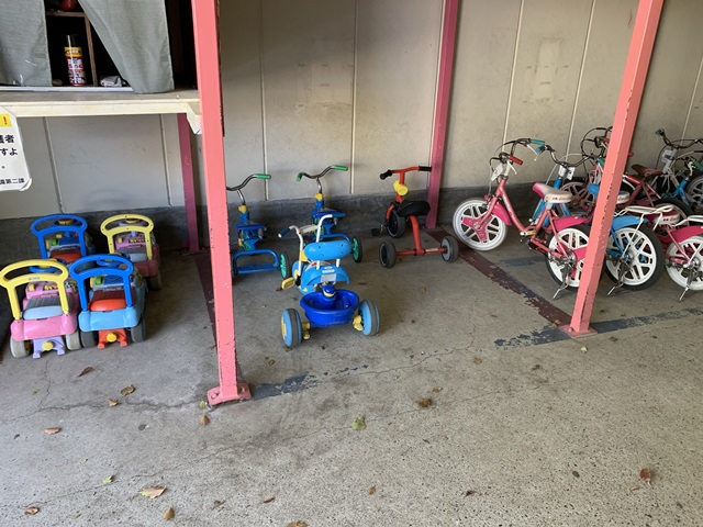 萩中公園 自転車2