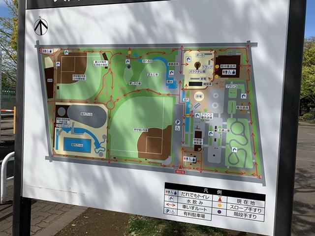萩中公園 マップ