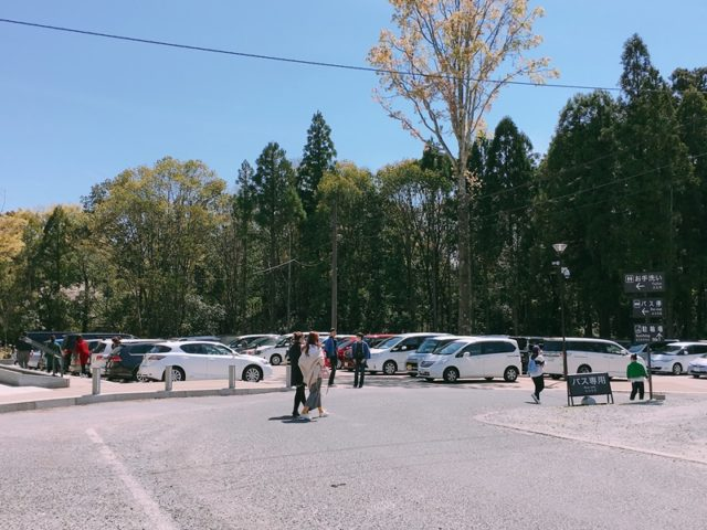 春日大社の駐車場2