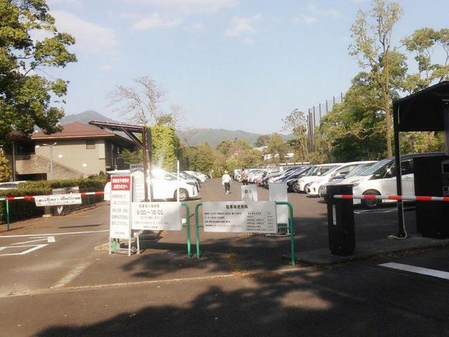 京都府植物園の駐車場